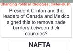 changing political ideologies carter bush27