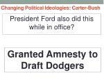 changing political ideologies carter bush8
