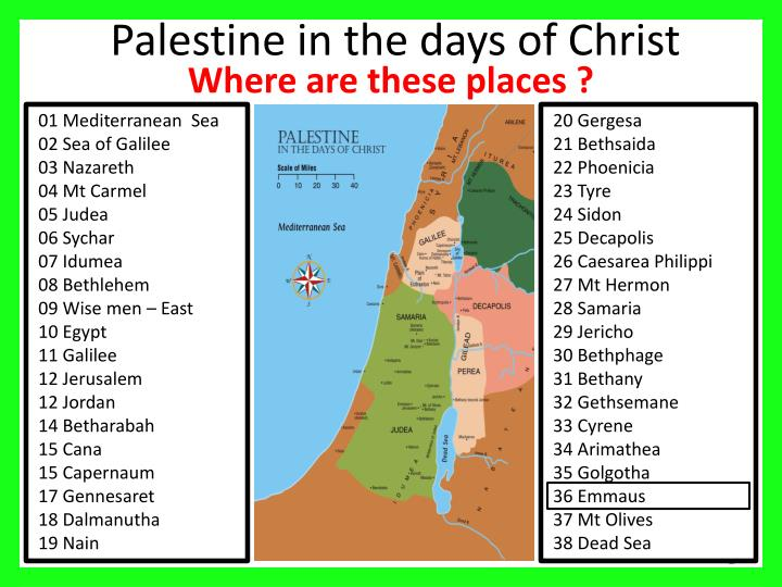 Palestine in the days of christ