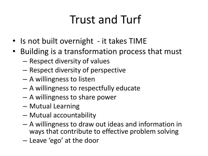 Trust and Turf