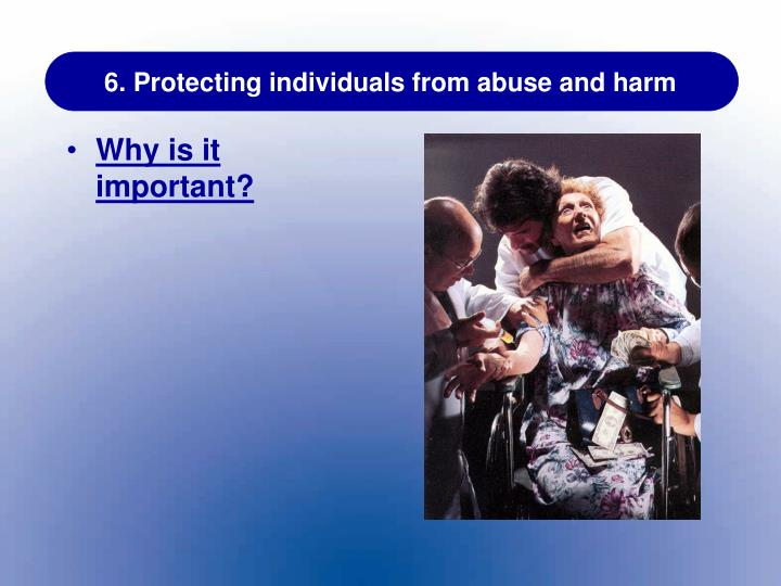 protection from harm abuse essay Child protection an introduction social work  guarantee protection from abuse but permits  abuse is intentional actions that cause harm or create a.