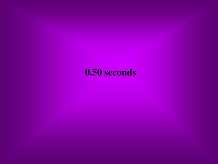 0.50 seconds