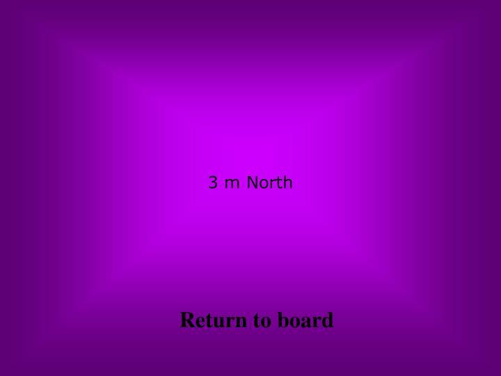 3 m North