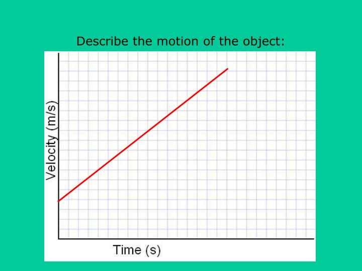 Describe the motion of the object: