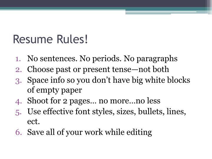 Resume Rules!