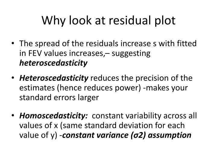Why look at residual plot