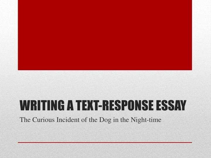 Writing A Response Essay