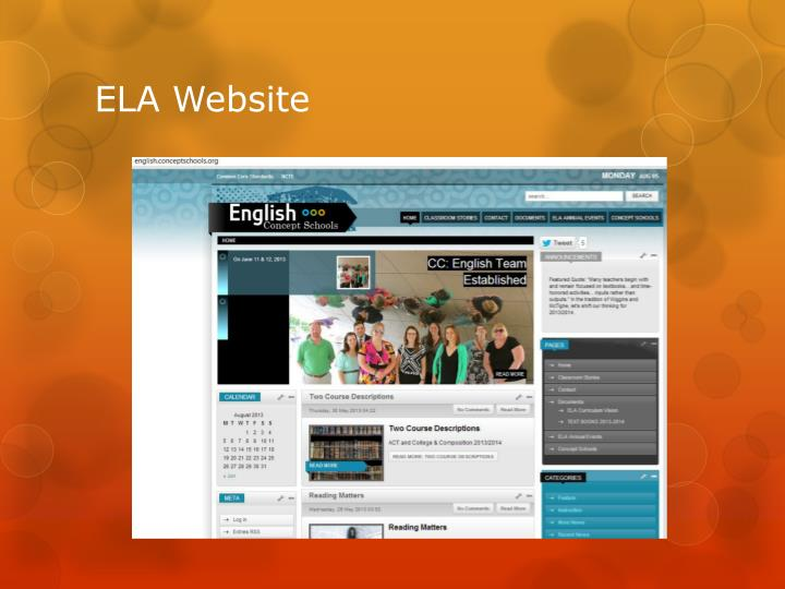 ELA Website