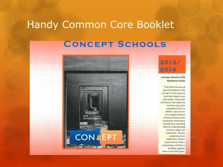 Handy Common Core Booklet