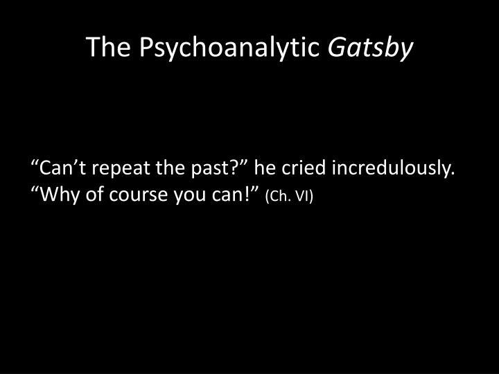 The Psychoanalytic