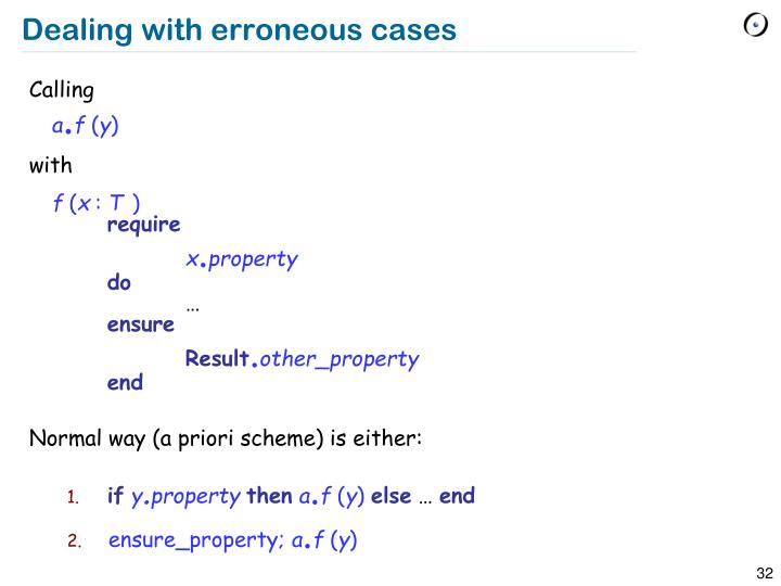 Dealing with erroneous cases