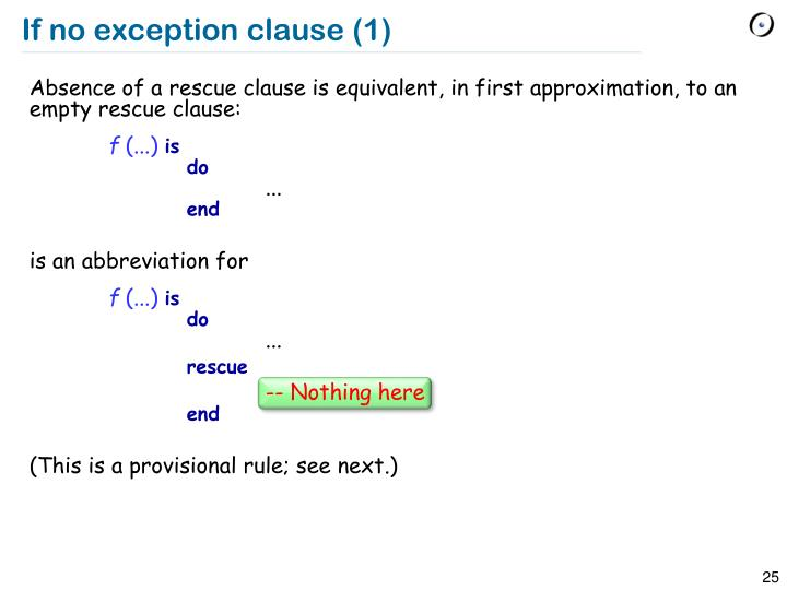 If no exception clause (1)