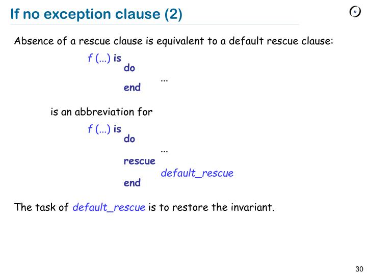 If no exception clause (2)