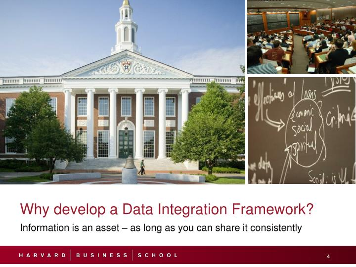 Why develop a Data Integration Framework?