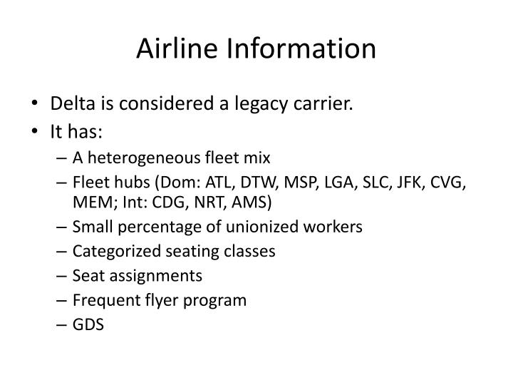 Airline information