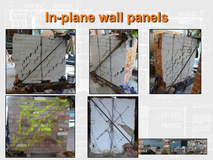 In-plane wall panels