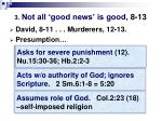 3 not all good news is good 8 13