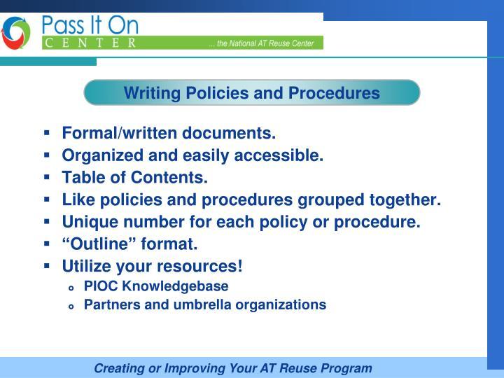 Formal/written documents.