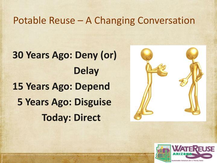 Potable Reuse – A Changing Conversation