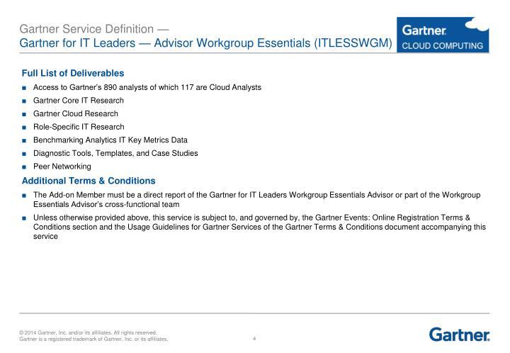 Gartner Service Definition