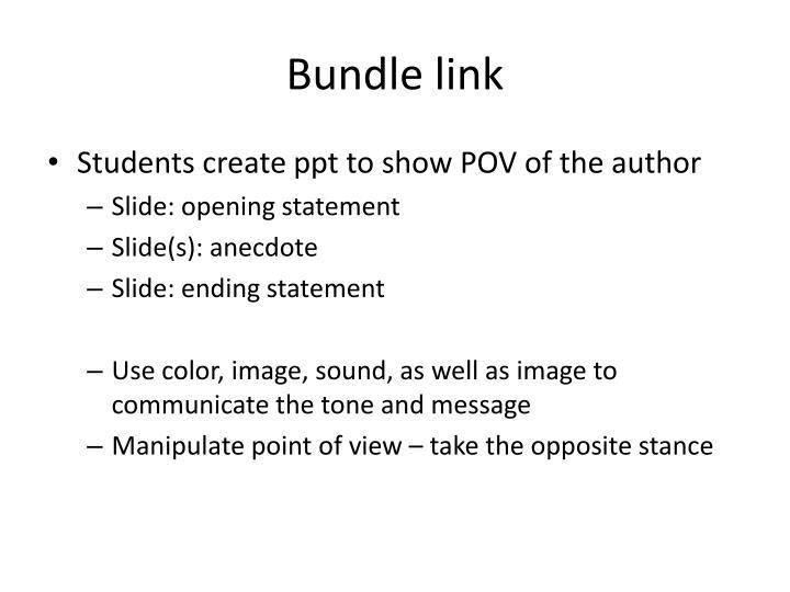 Bundle link