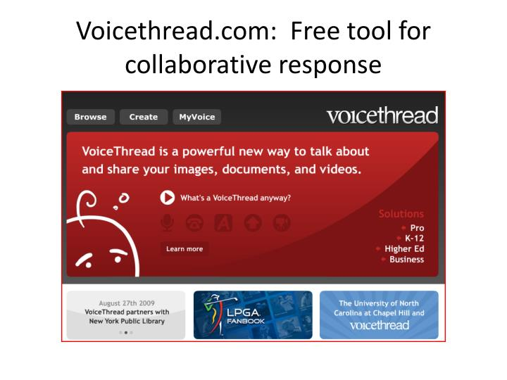 Voicethread com free tool for collaborative response