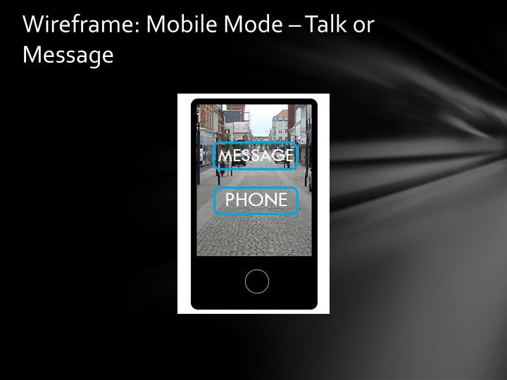 Wireframe: Mobile Mode