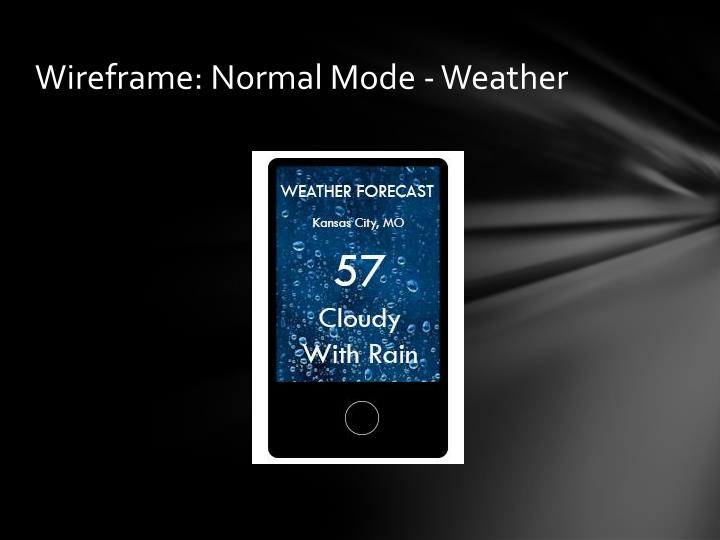 Wireframe: Normal Mode - Weather