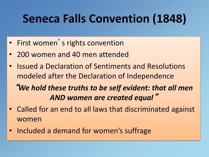 Seneca Falls Convention (1848)