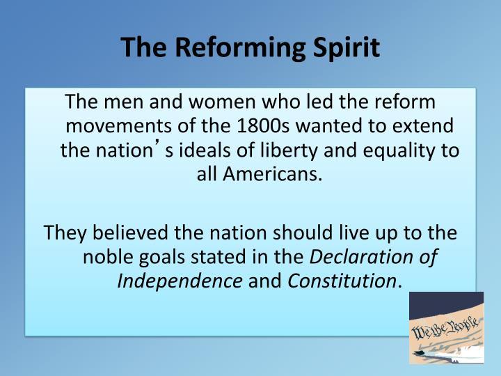 The Reforming Spirit