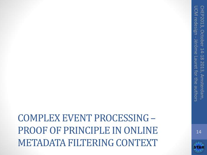Complex Event processing – proof of principle in online