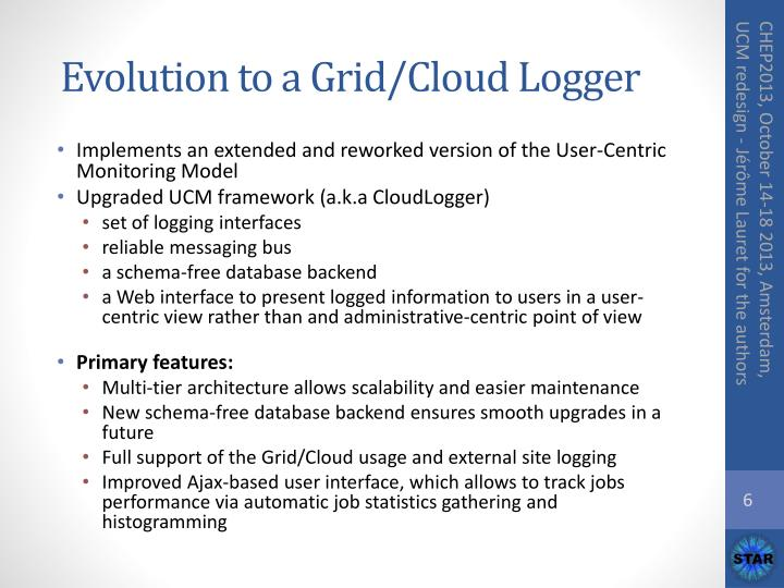 Evolution to a Grid/Cloud Logger