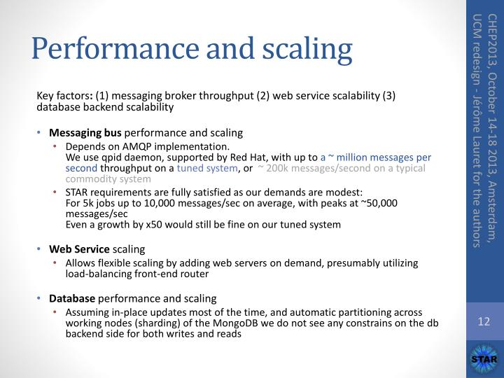 Performance and scaling