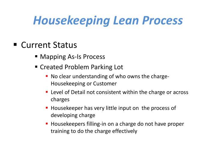 Housekeeping Lean Process