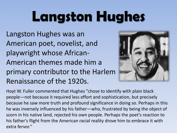 salvation langston hughes 2 Salvationlangston hughes born in joplin, missouri, langston hughes (1902-1967), an important figure in the harlem renaissance, wrote poetry.