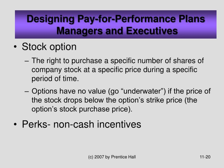 Stock options drawbacks