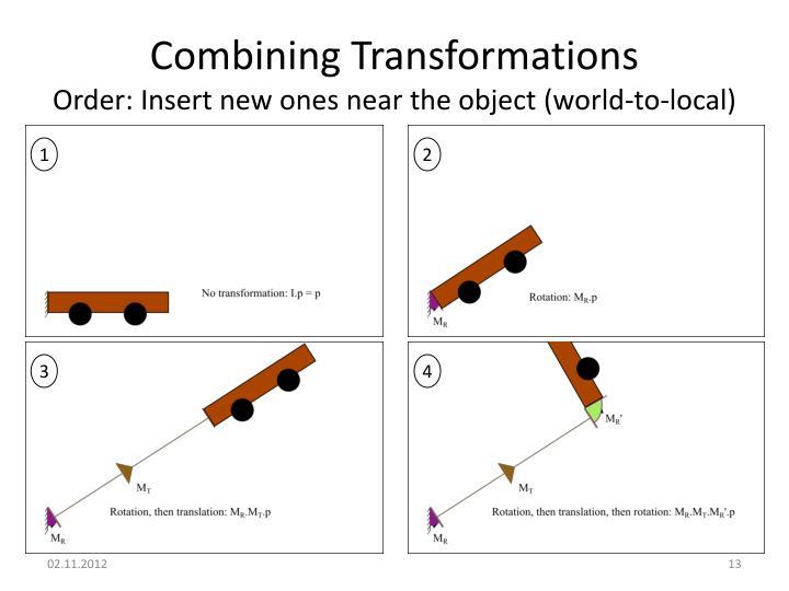 Combining Transformations