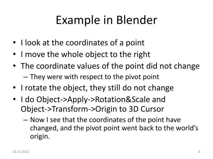 Example in Blender