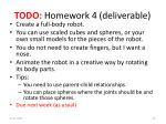 todo homework 4 deliverable