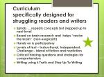 curriculum specifically designed for struggling readers and writers