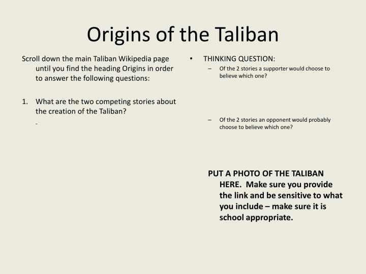 Origins of the Taliban
