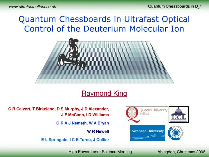 Quantum Chessboards in Ultrafast Optical Control of the Deuterium Molecular Ion