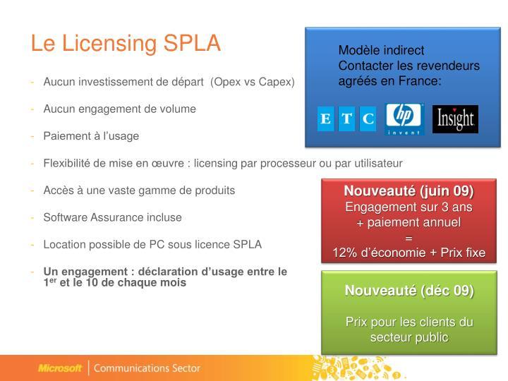 Le Licensing SPLA