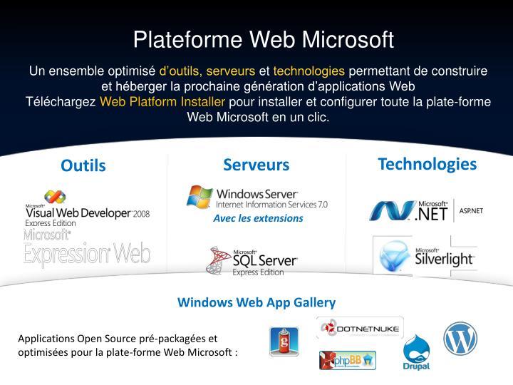 Plateforme Web Microsoft