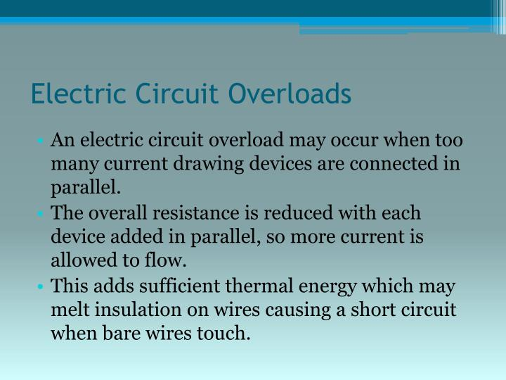 Electric Circuit Overloads