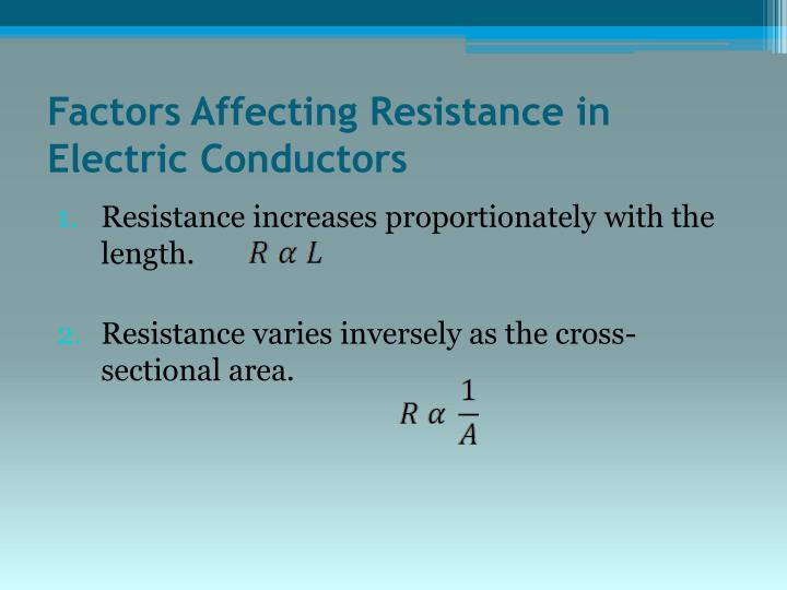Factors Affecting Resistance in Electric Conductors