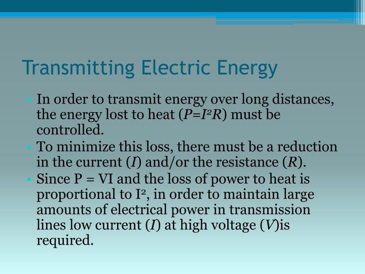Transmitting Electric Energy