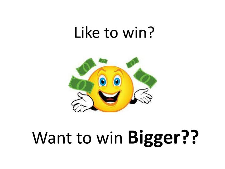Want to win