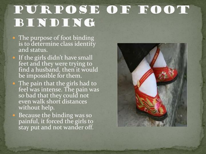Purpose of foot binding