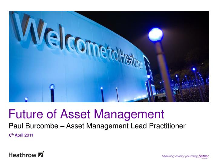 Future of Asset Management